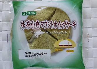 抹茶小倉マウントホイップケーキ