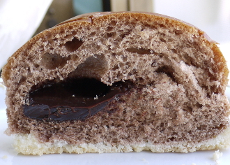 タルトがくっついたチョコクリームパン