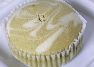 抹茶ソイラテ蒸しケーキ