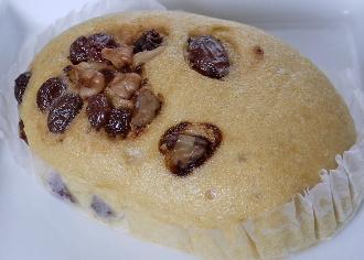 クルミ&レーズン蒸しパン